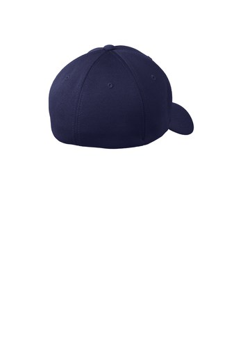 navy back hat